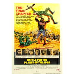 Vintage 1973 Battle for the Planet of the Apes 1-sheet Poster