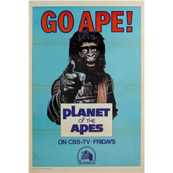 Vintage 1974 Planet of the Apes TV Series 1-sheet Poster