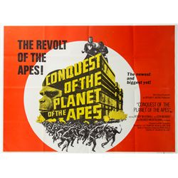 Vintage 1972 Conquest of the Planet of the Apes Style AA British Quad Poster