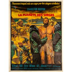Vintage Planet of the Apes French Grande Poster