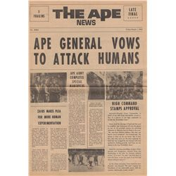 Vintage Beneath the Planet of the Apes Promotional The Ape/The Mutant Newspaper