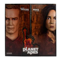 Sideshow Planet of the Apes Slave Taylor and Nova Double Set Figures