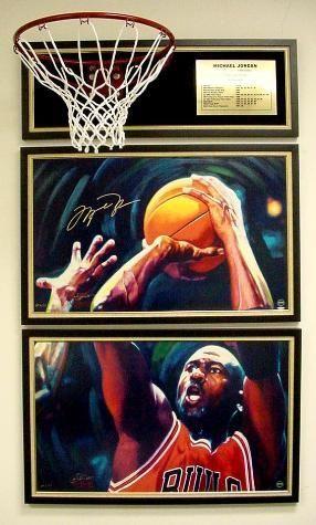 cfdd94af0f7 Image 1 : 2 Michael Jordan Signed LE Fine Art Prints LAST SHOT ...