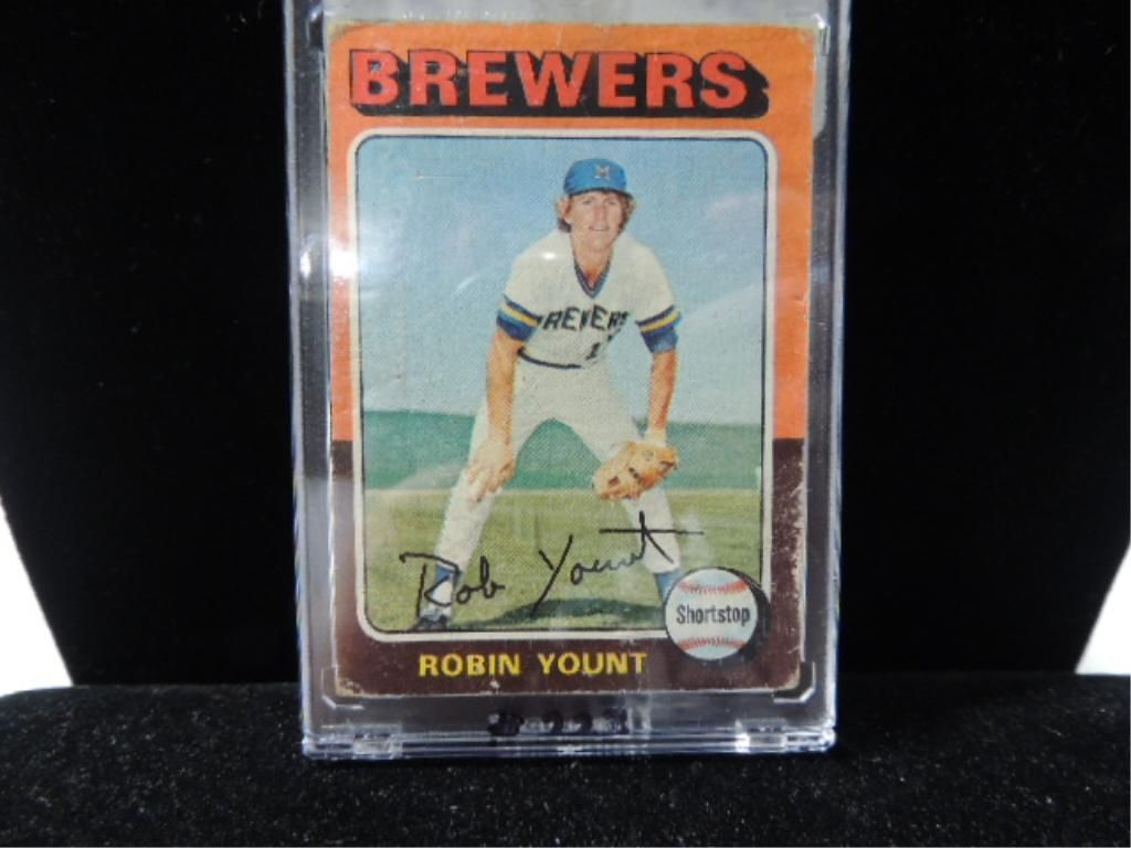 1975 Topps Robin Yount 223 Rookie Baseball Card