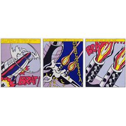 Roy Lichtenstein, As I Opened Fire, Lifetime Edition Triptych