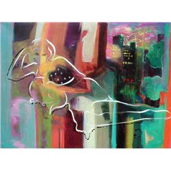 Sabzi, City Nights, Signed Giclee on Canvas