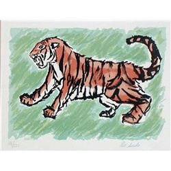 Rei Saeki, Tiger, Signed Lithograph