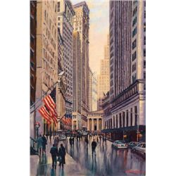 Michele Byrne, Wall Street Canyon, Signed Canvas Print
