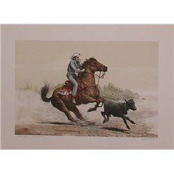 Mel Hunter, Quarter Horse, Signed Lithograph