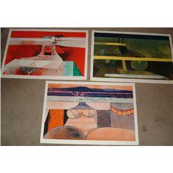 Hans Graeder, Suite of 3 Signed Lithographs