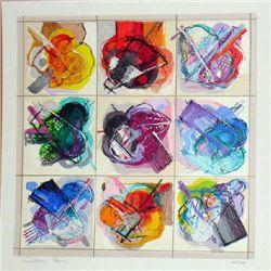 Calman Shemi, Flowers Kaleidoscope, Signed Serigraph
