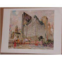 Kamil Kubik, Plaza Hotel, Signed Lithograph