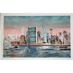 Kamil Kubik,  East River, NY,  Signed Print