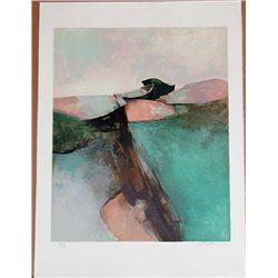 Claude Gaveau, Emerald Coast, Signed Lithograph