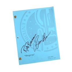 Enterprise Stigma Script Signed By Rick Berman & Brannon Braga