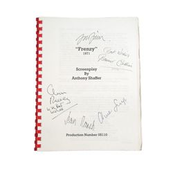 Hitchcock's Frenzy Production Script With Cast Signatures