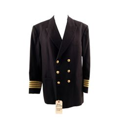 Crimson Tide Capt. Ramsey (Gene Hackman) Naval Officer's Black Dress Jacket Costume
