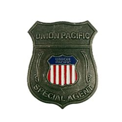 Back To The Future III Union Pacific Old West Badge Prop