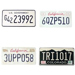X-Files License Plate Props
