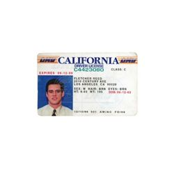 Liar Liar Fletcher Reede (Jim Carrey) California Driver License Prop