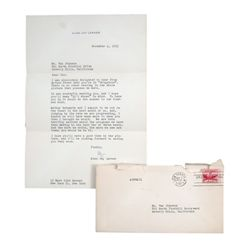 Alan Jay Lerner Signed Personal Letter