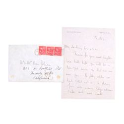 Rex Harrison Signed Personal Letter