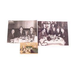 Elizabeth Taylor, Van Johnson, Tyron Power, Ronald Reagan Personal Stork Club Photos & Postcard