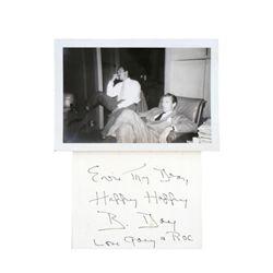Gary Cooper Signed Handwritten Note & Photo