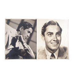 Tyrone Power Oversize Inscribed & Signed Photos