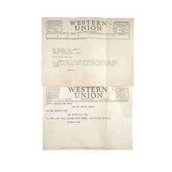 Spencer Tracy/Keenan Wynn Original Telegrams