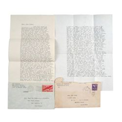 Van Johnson Personal Intimate Love Letters To Evie Wynn