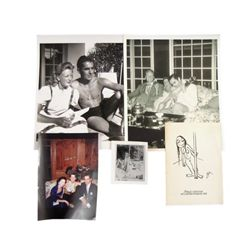 Tyrone Power Personal Photos & Signed Card
