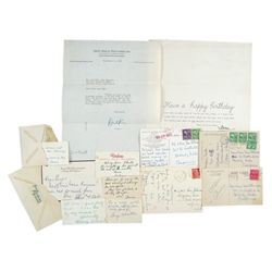 Hollywood Legends Handwritten And Signed Thank You Notes