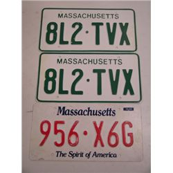 The Fast and the Furious Massachusetts Plates