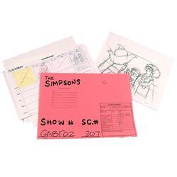 The Simpsons Original Animation Artwork & Storyboards