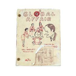 A global Affair Full Original Storyboard Production Book