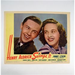 Henry Aldrich Swings It Jimmy Lydon Signed Lobby Card