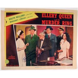 Ellery Queen Ralph Bellamy Signed Lobby Card