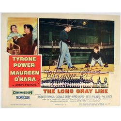 Long Gray Line Maureen O'Hara Signed Lobby Card