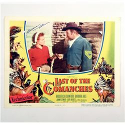 Last Of The Comanches Barbara Hale Signed  Original Lobby Card