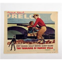 Treasure Of Pancho Villa Gilbert Roland Signed  Original Lobby Card