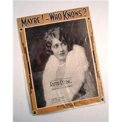 Ruth Etting Maybe-Who Knows Original Ziegfeld Sheet Music