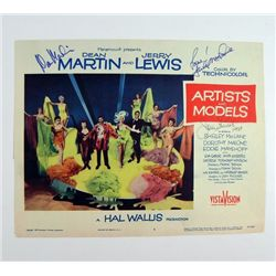 Artist and Models Original Lobby Card Signed By Jerry Lewis/ Dean Martin/ Shirley MacLaine
