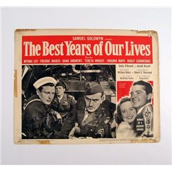 Best Years Of Our Lives Lobby Card Signed By Harold Russell