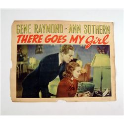 There Goes My Girl Original Lobby Card Signed By Ann Sothern