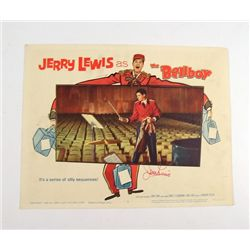 The Bellboy Original Lobby Card Signed By Jerry Lewis