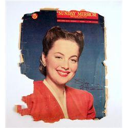 Olivia de Havilland Personal Autograph