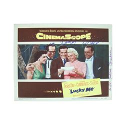 Lucky Me Original Lobby Card Signed By Doris Day/ Robert Cummings/ Phil Silvers/ Nancy Walker