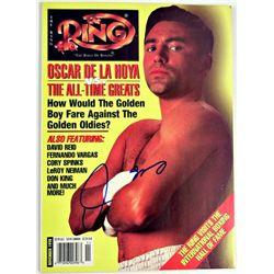 Oscar De La Hoya Signed Ring Magazine