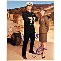 Jag David James Elliott/ Catherine Bell Signed Photo